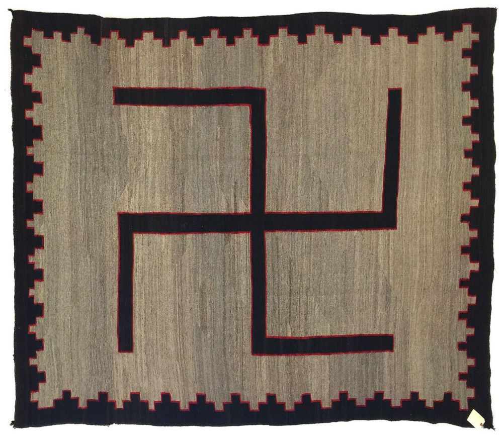 C 1900 navajo hubbell ganado rug with whirling log symbol 1900 navajo hubbell ganado rug with whirling log symbol biocorpaavc Images