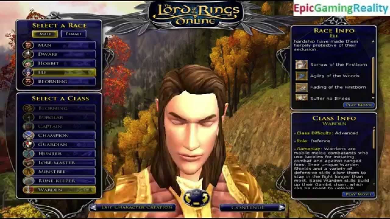 All Default Appearances Of The Male Elf Classes Revealed In The Lord