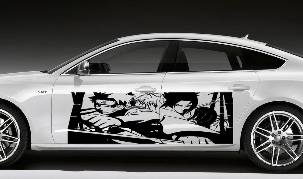 Anime Manga Boy Warrior Ninja Sword Japanese Car Vinyl Sticker - Decal graphics for carsvehicle graphics