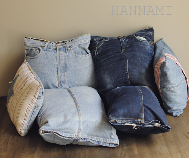 Oi, rakas farkku - lattiatyynyt pojalle! Floor cushions from old jeans. Recycling upcycling sewing. Kierrätys ompelu. DIY