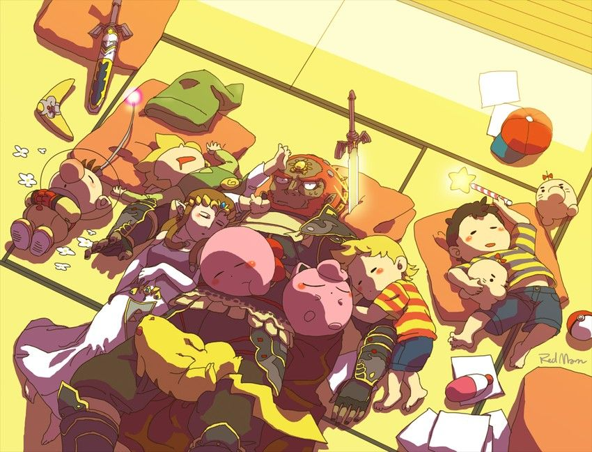 Ganondorf Babysitting The Smash Bros Crew Olimar Ness Lucas