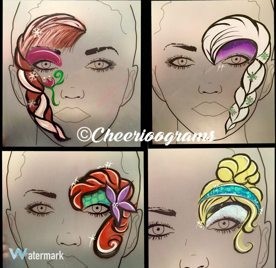 Disney Face Painting Designs Painted Faces Paintings Princesses Paint Ideas Glitter Artistic Make Up