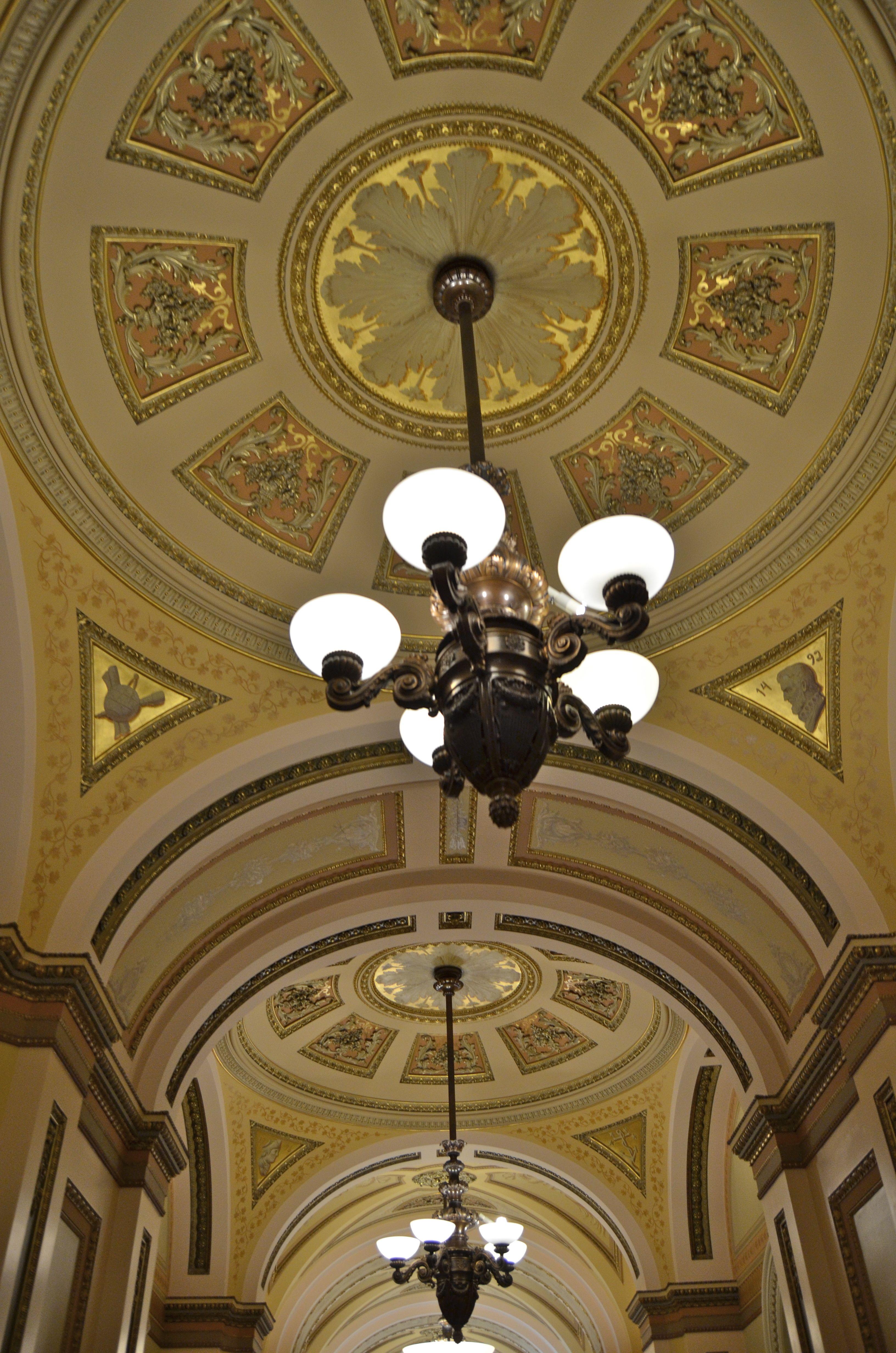 Hallway light fixtures in the capital building washington dc hallway light fixtures hallway lighting