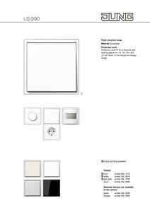 Plastic Wiring Accessories Ls 990 Les Couleurs Le Corbusier By Jung Le Corbusier Switches Catalog
