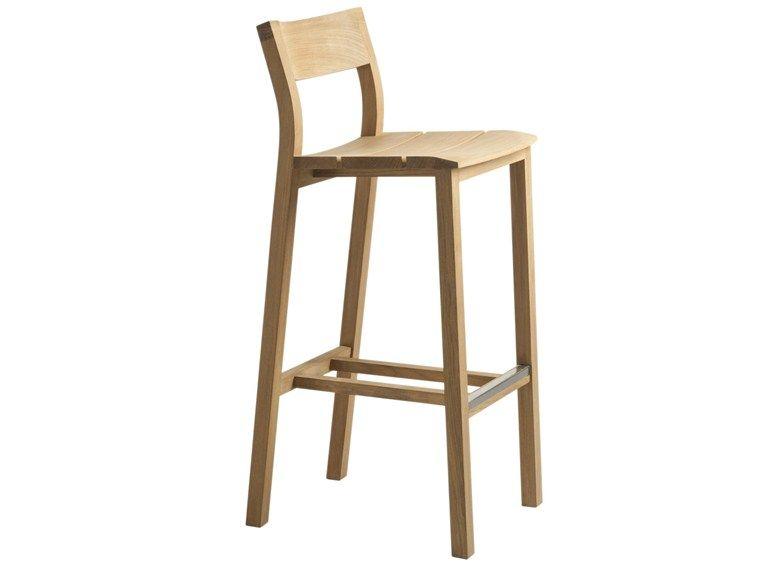 Pleasant Kos Teak Garden Stool By Tribu Outdoor Bar Stools Stool Unemploymentrelief Wooden Chair Designs For Living Room Unemploymentrelieforg