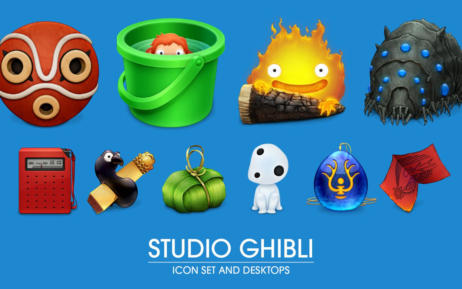 Free to download ghibli desktop icons and wallpapers