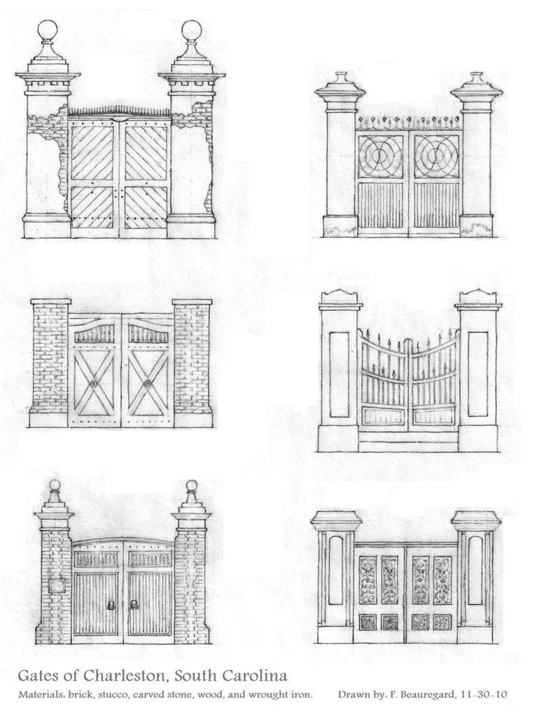 A page of doorway details, including a watercolor sketch