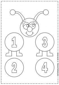 Tırtıl Sayılar Boyama 1 Sınıf Matematik Number Flashcards