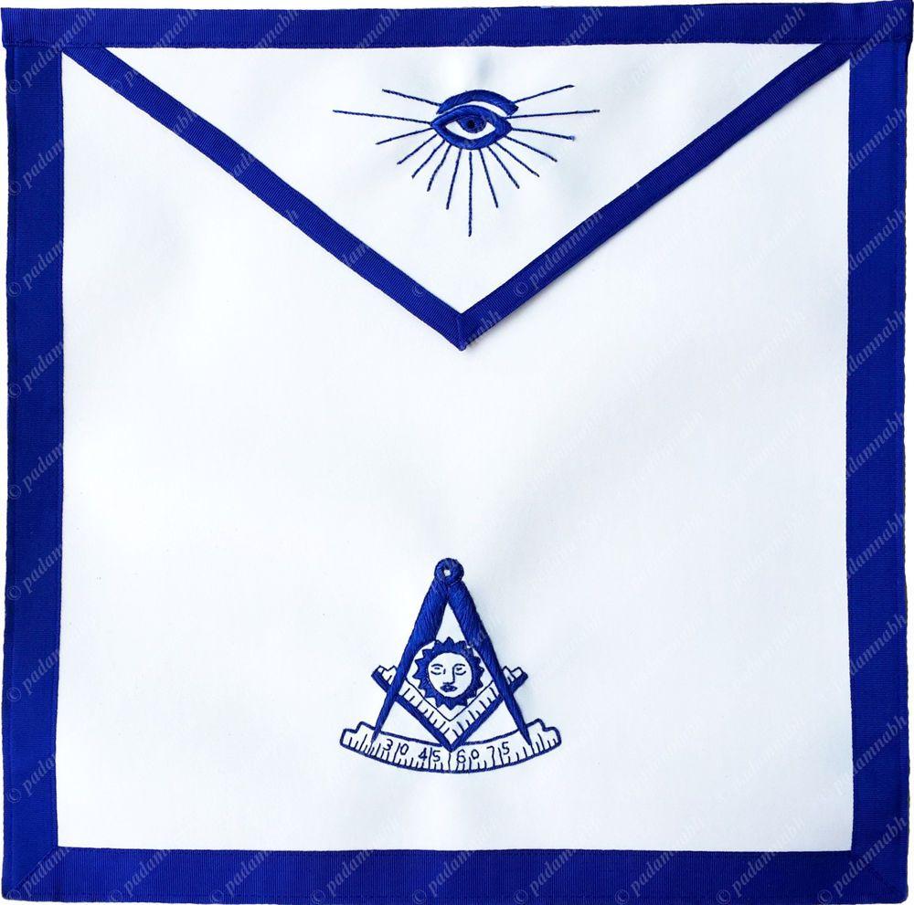 MASONIC BLUE LODGE PAST MASTER APRON TEXAS REGULATION HAND