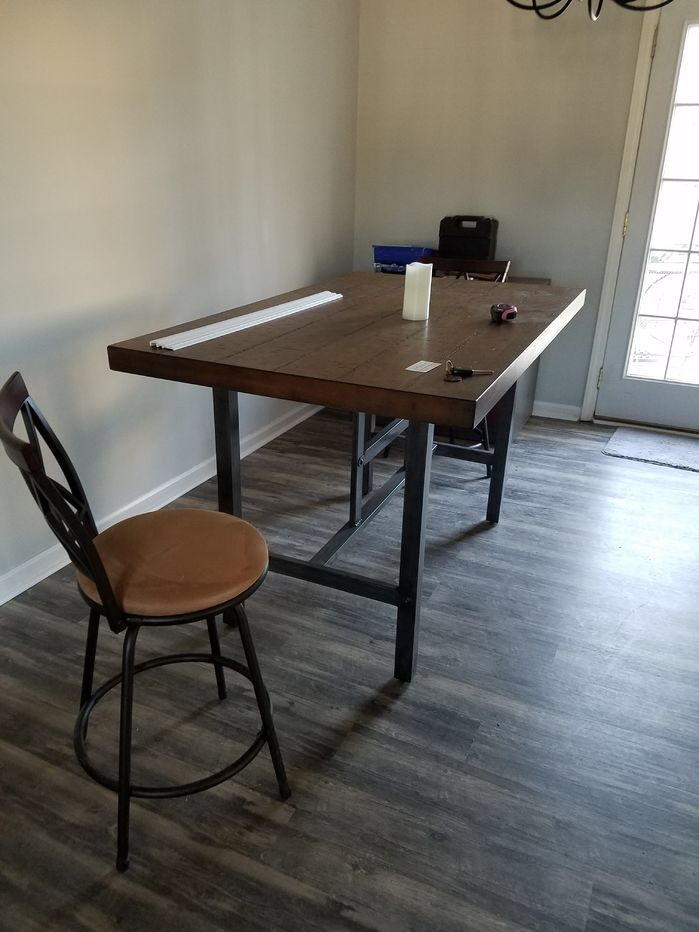 269 Broadview Room Counter Dining Table Wood Meta 36 60 36
