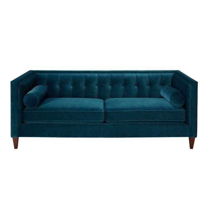 Kylie Sofa In 2020 Teal Sofa Teal Velvet Sofa Velvet Tufted Sofa