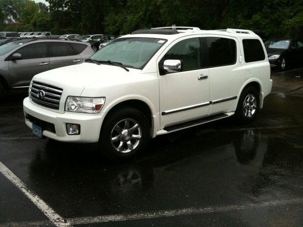 White Infiniti Qx56 I Just Bought This Love It Lil Of This