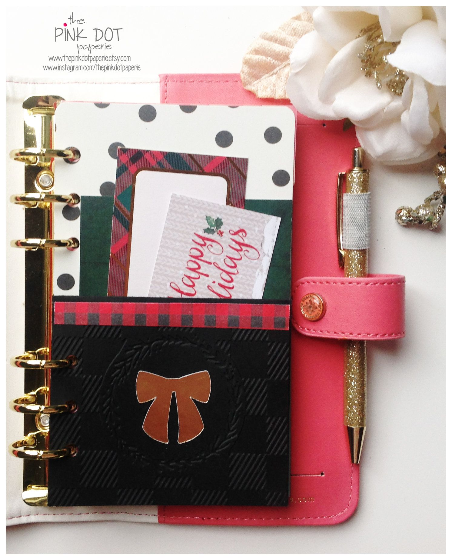 Planner Accessory Christmas Dashboard Planner Divider