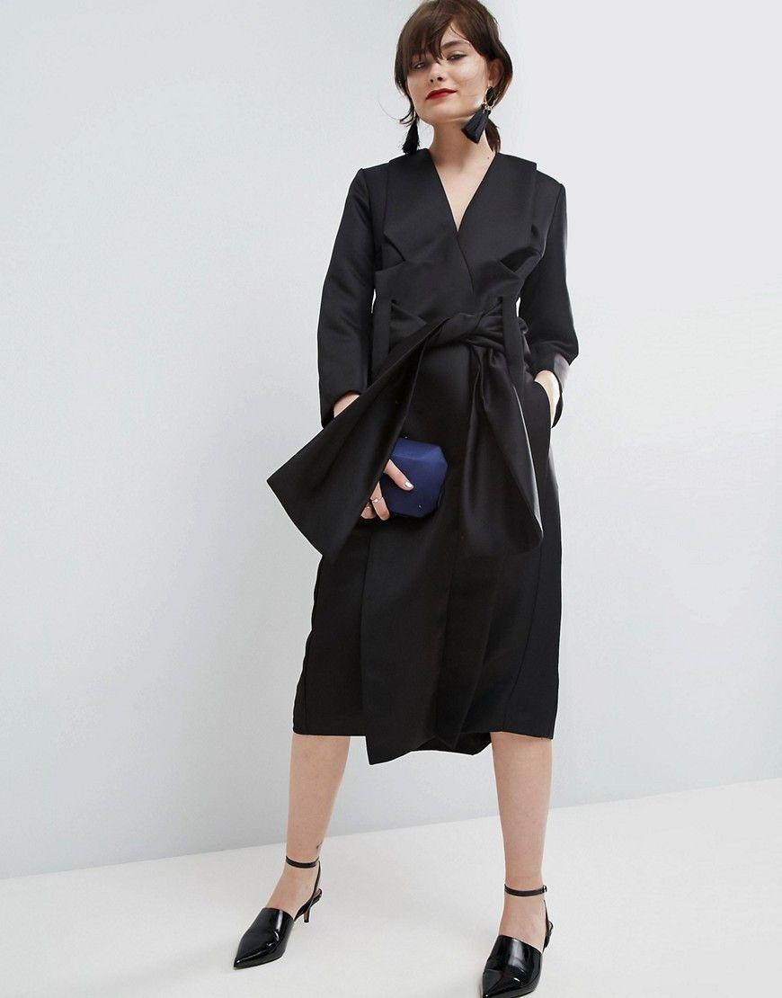 b794c26df020 WHITE Satin Kimono Midi Dress | Tailored Trends... | Satin kimono ...