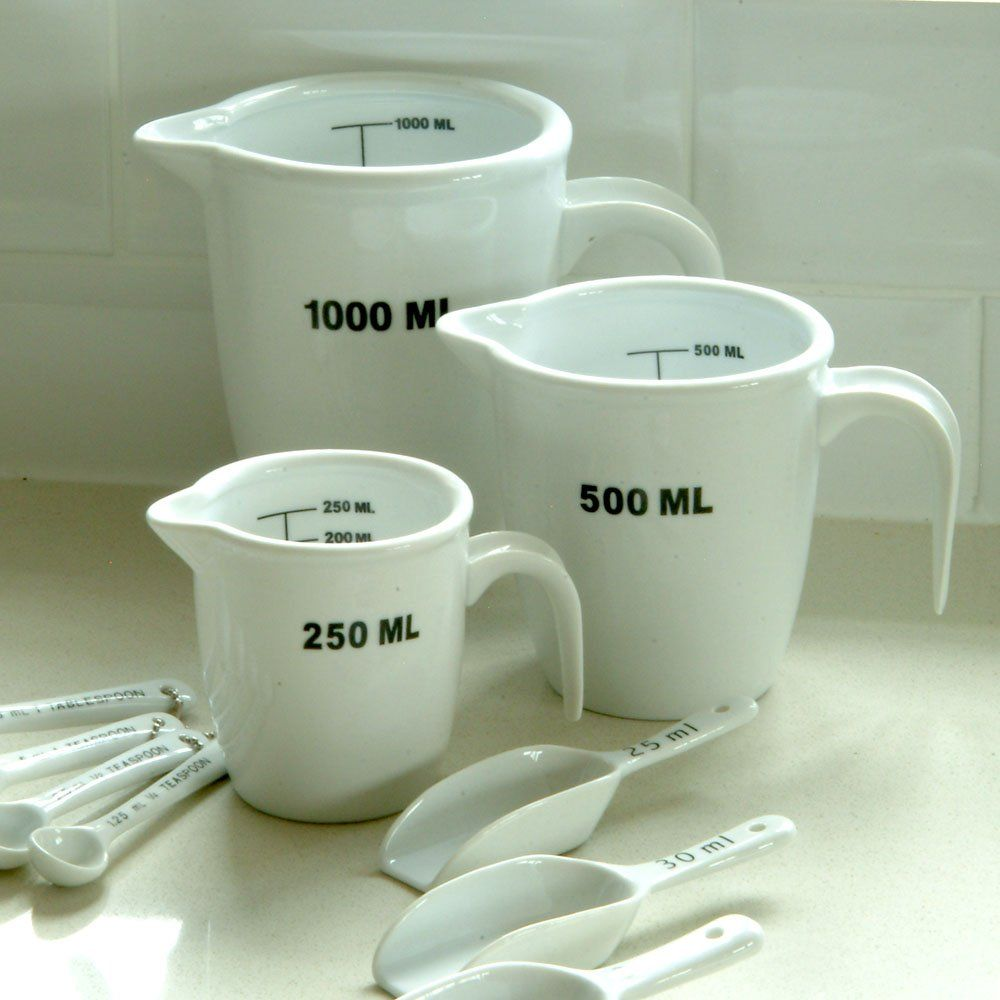 White Ceramic Measuring Jugs - 3 sizes from Willow and Stone.  Meaghan for Christmas?
