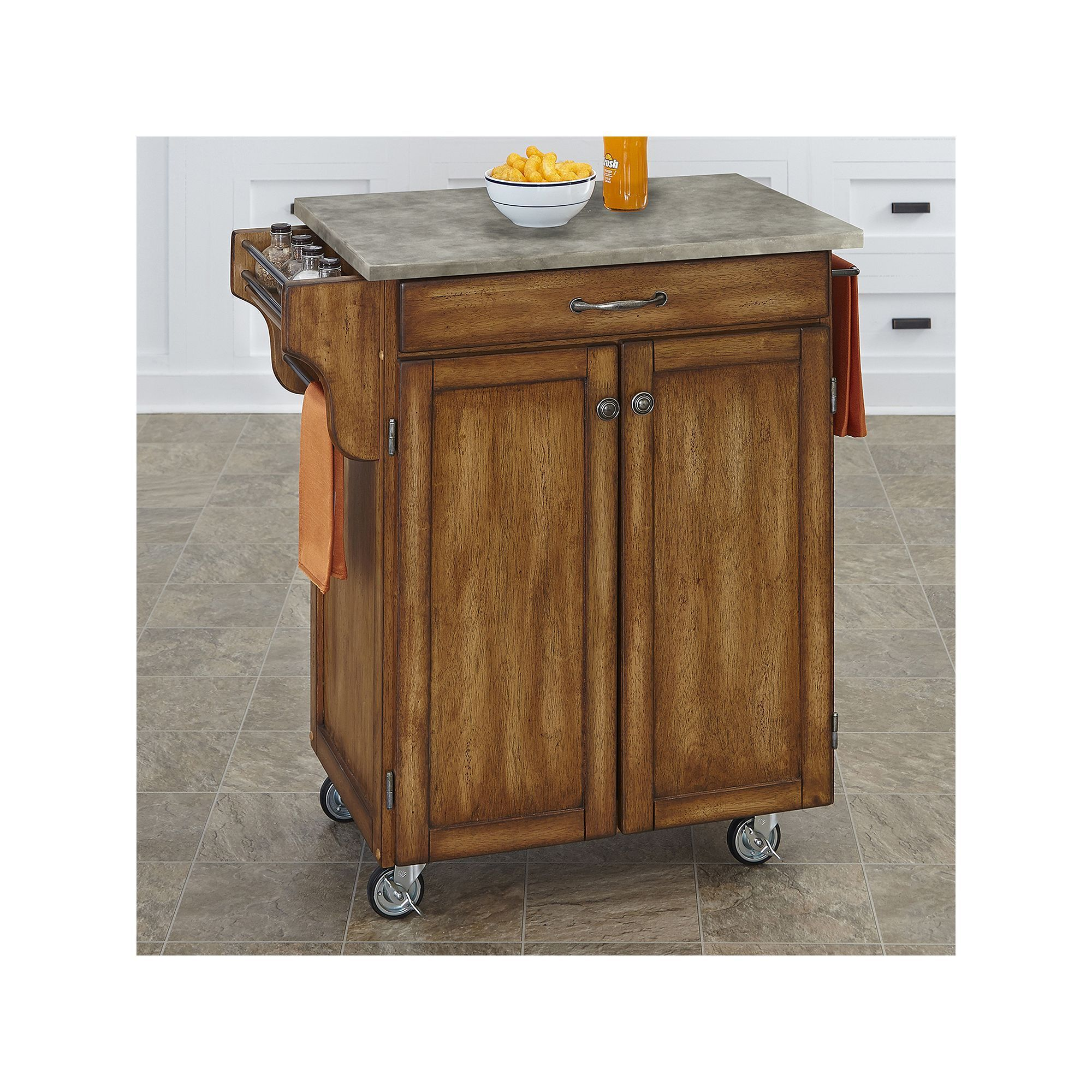 Best Home Styles 2 Door Create A Cart Kitchen Cart In 2019 640 x 480