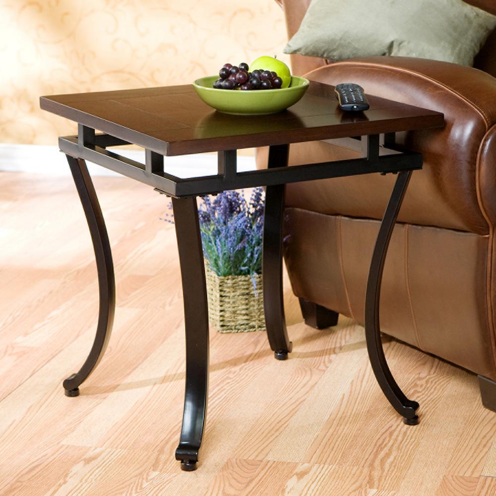 Modesto Espresso Contoured End Table Ck6422 Furniture End Tables Decor