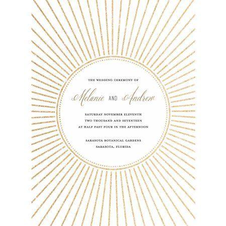 Glimmering Starburst Standard Program Card, Gold