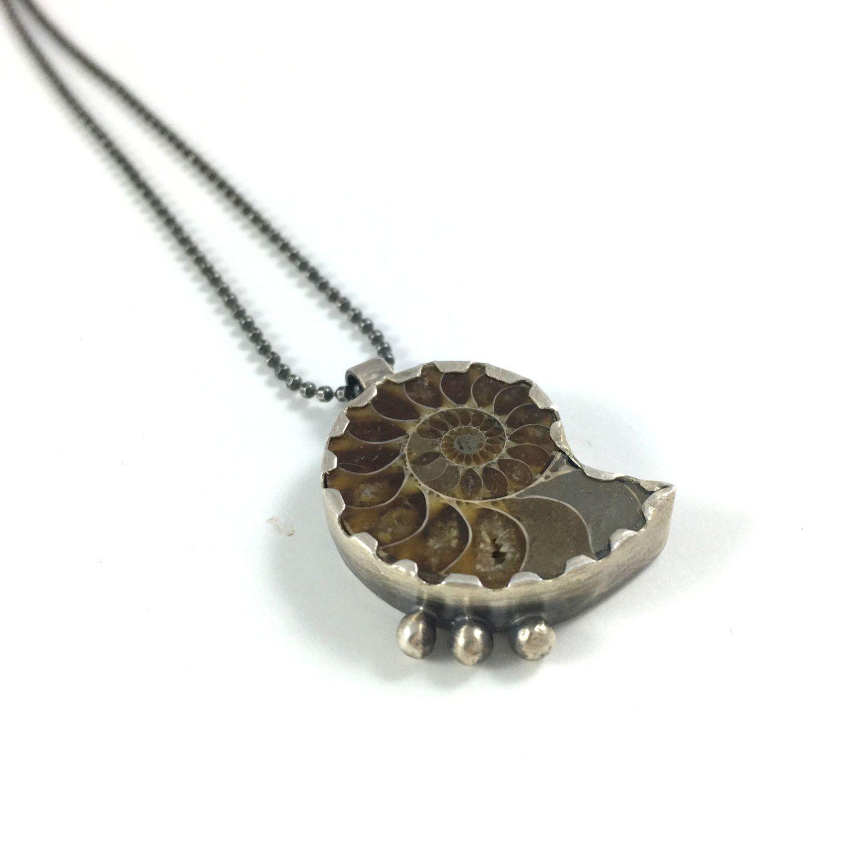 Ammonite pendant ammonite by amorphicmetals ammonite jewelry ammonite pendant ammonite by amorphicmetals aloadofball Image collections