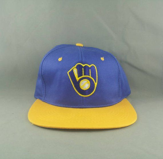 14bfb9192fb06c Milwaukee Brewers Hat (VTG) -By Drew Perason - Adult Snapback - New Without  Tags