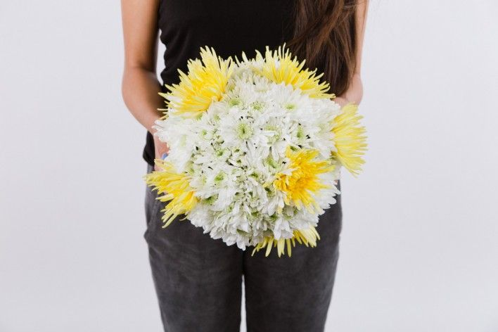 spring diy project: fresh floral ball