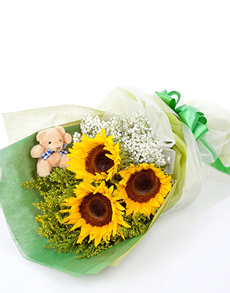 Singapore Flowers Cheerful Sunflower Bouquet Ramos