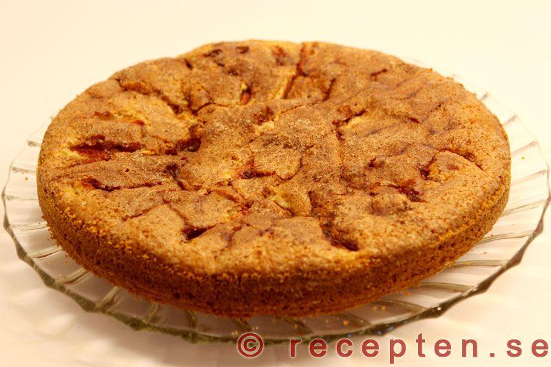 sockerkaka med äpplen och kanel äppelkaka