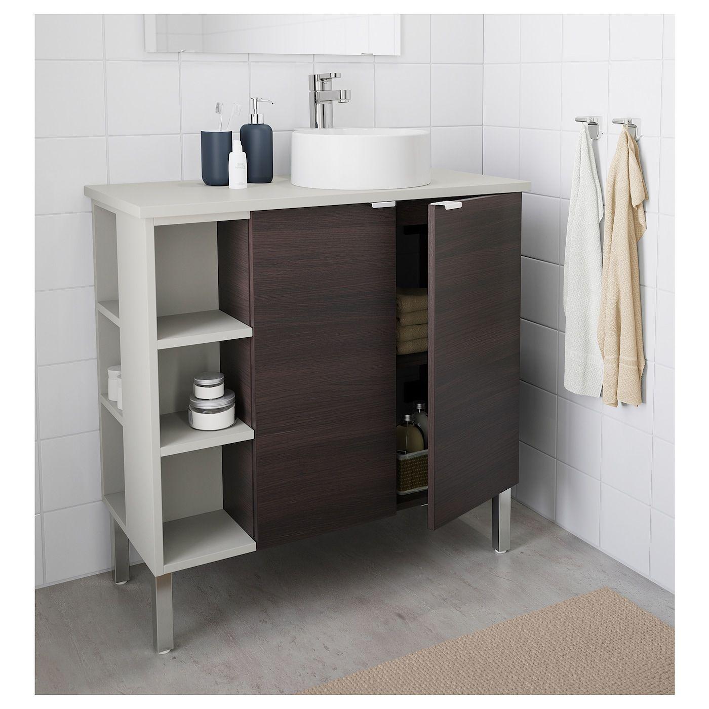 LILLÅNGEN/VISKAN / GUTVIKEN Bathroom vanity/2 doors/2 end