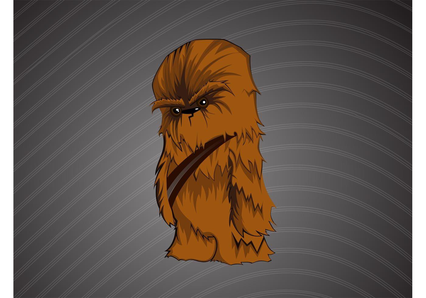 Cute and stylish Chewbacca vector cartoon of Star Wars fan favorite ...