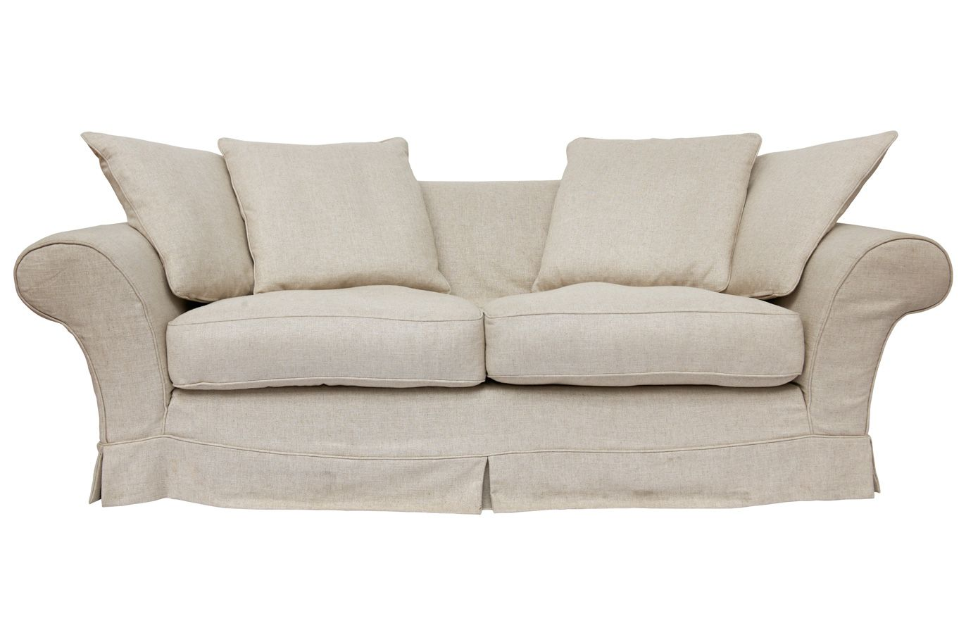 Alston In Alston Linen 2 Seater Sofa Laura Ashley Made To Order King Size Bed Linen Bed Linens Luxury 2 Seater Sofa