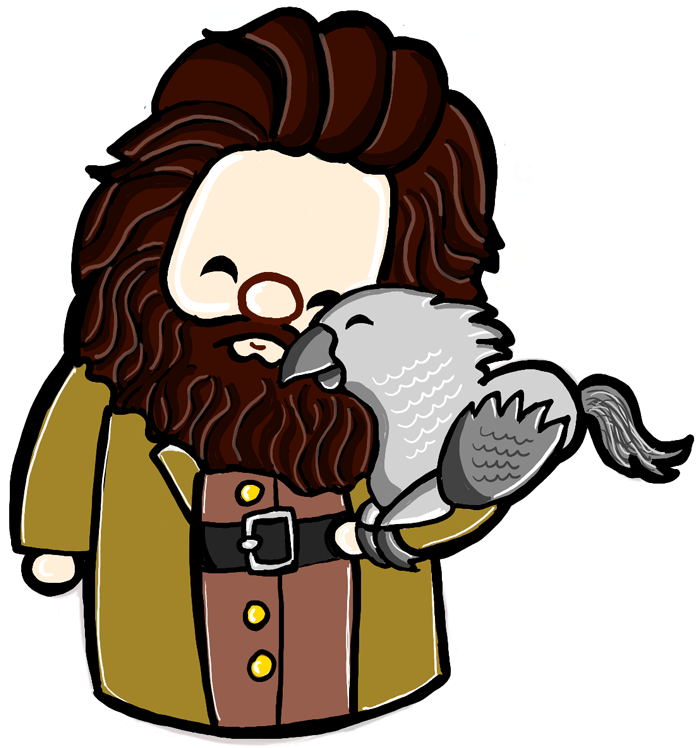 How to draw a cute chibi hagrid and buckbeak from harry