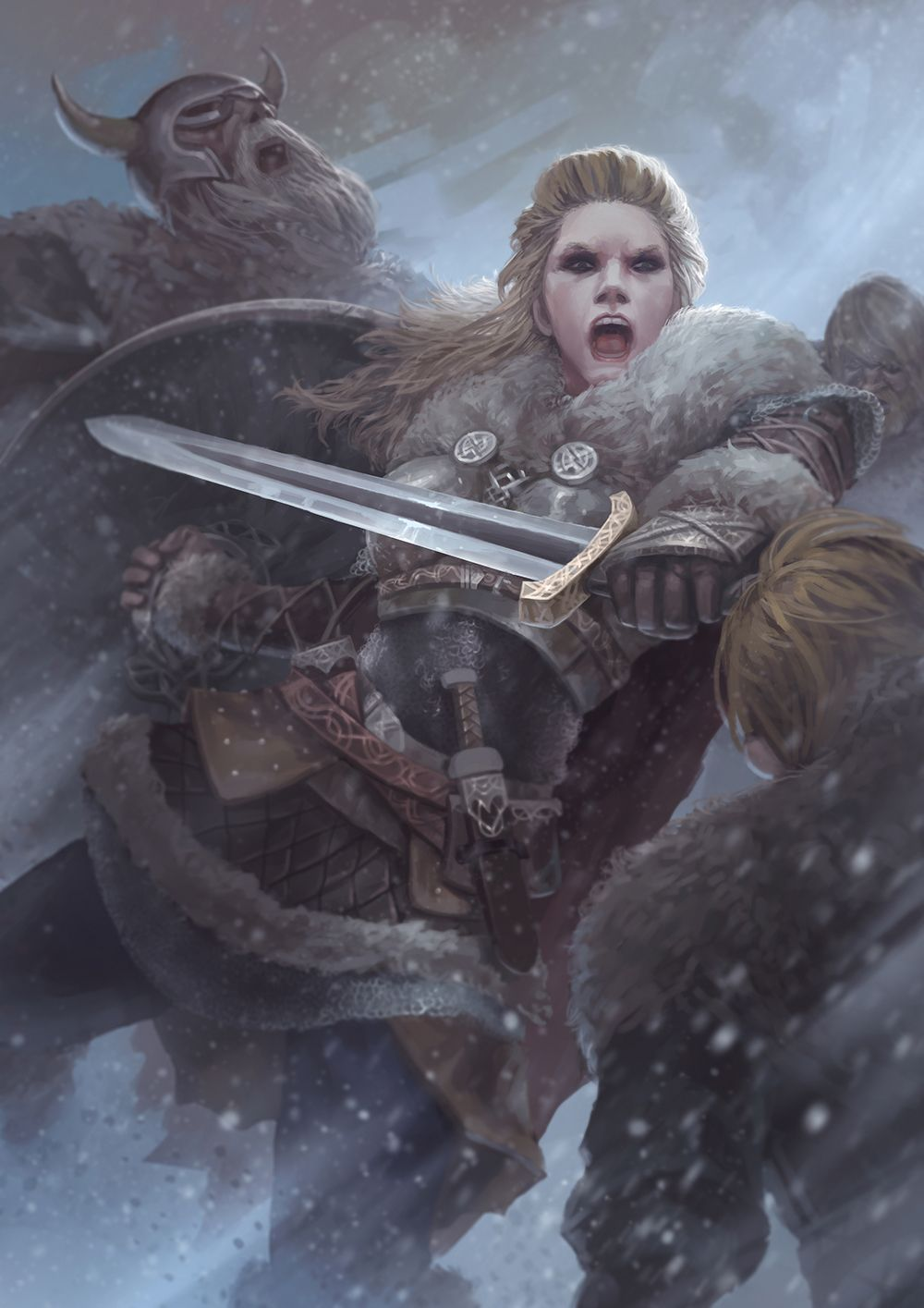 Vikings Lagherta The Shield Maiden By Stupid Crow