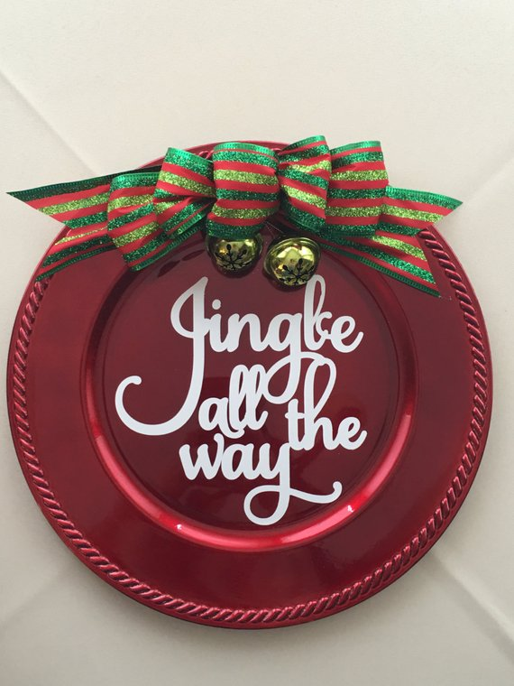 Jingle All the Way vinyl decal for Christmas Ornament Great gift idea!