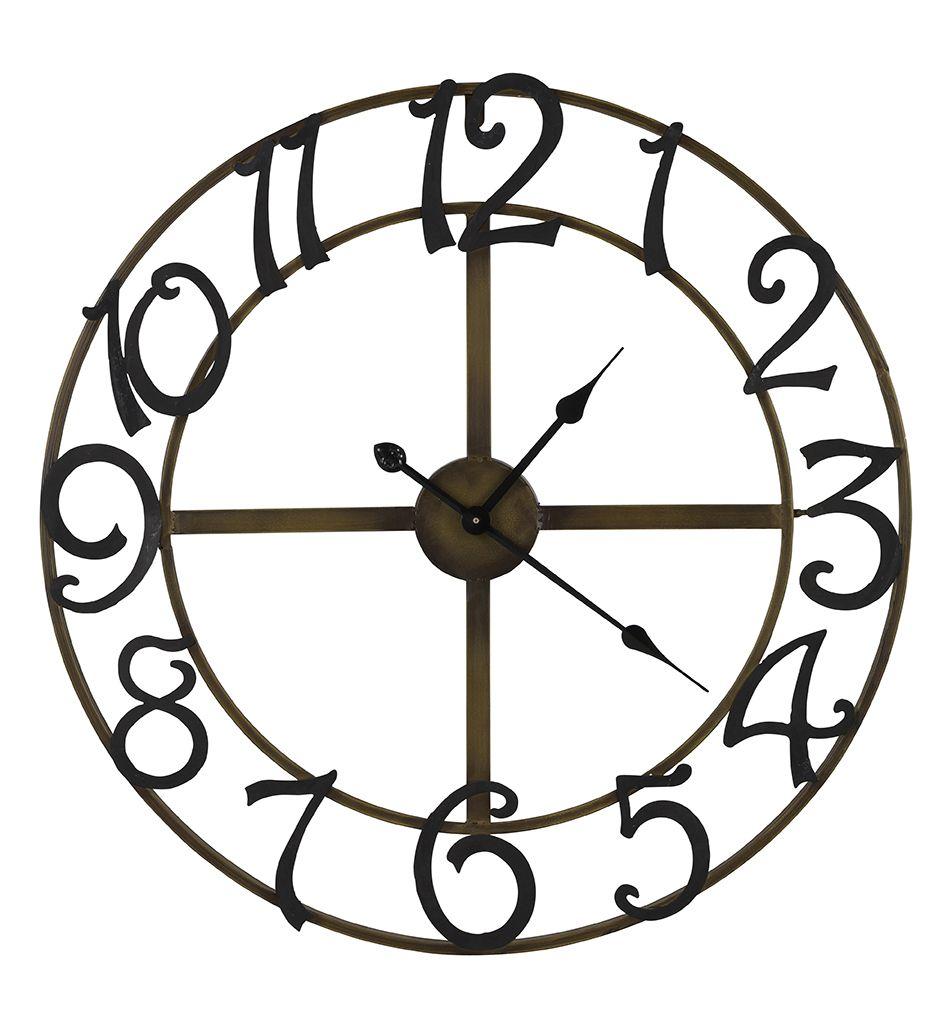 Cooper Classics 40377 La Salle Clock Wall Clock Black Wall Clock Oversized Wall Clock