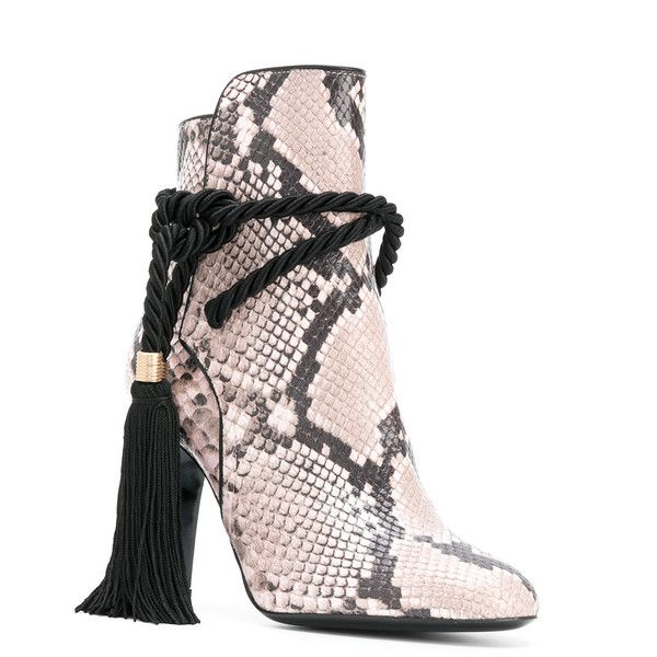 Footlocker Online Discount Pay With Paypal snake-effect tassel boots - Pink & Purple Philosophy di Lorenzo Serafini Cheap Visit hfXh5