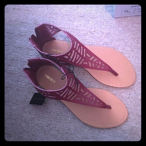 Forever 21 size 8 sandals red Could also fit a 7/7.5 Forever 21 Shoes Sandals
