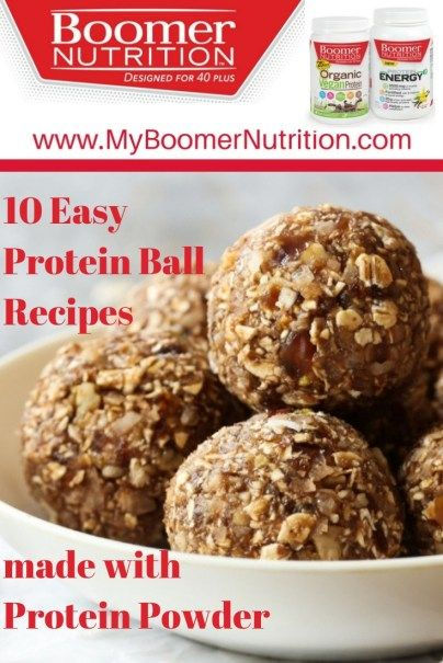 10 Easy Protein Ball Recipes With Protein Powder - Boomer Nutrition