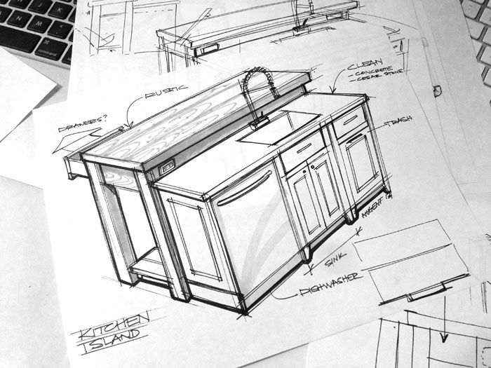 Interior Design Sketches Kitchen sketch-a-day-416: kitchen design sketch | sketches | pinterest
