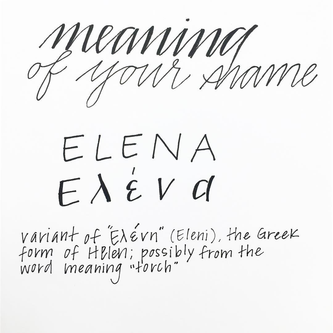 """#RockYourHandwriting: Meaning of your name. - """"Eléna"""" is a ..."""