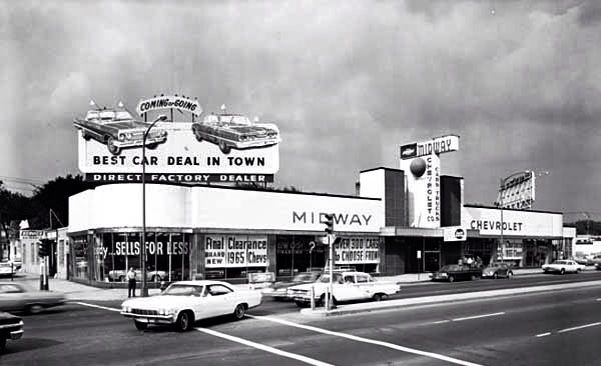 Midway Chevrolet Chevrolet Dealership Old School Cars Vintage