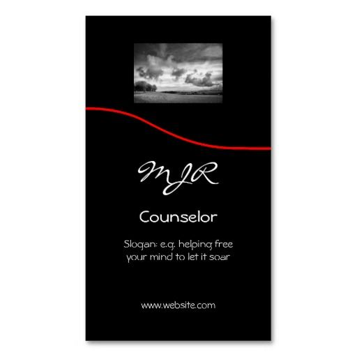 Monogram Counselling Services Red Swoosh Business Card Zazzle Com Business Card Template Psychology Business Card Zazzle Business Cards