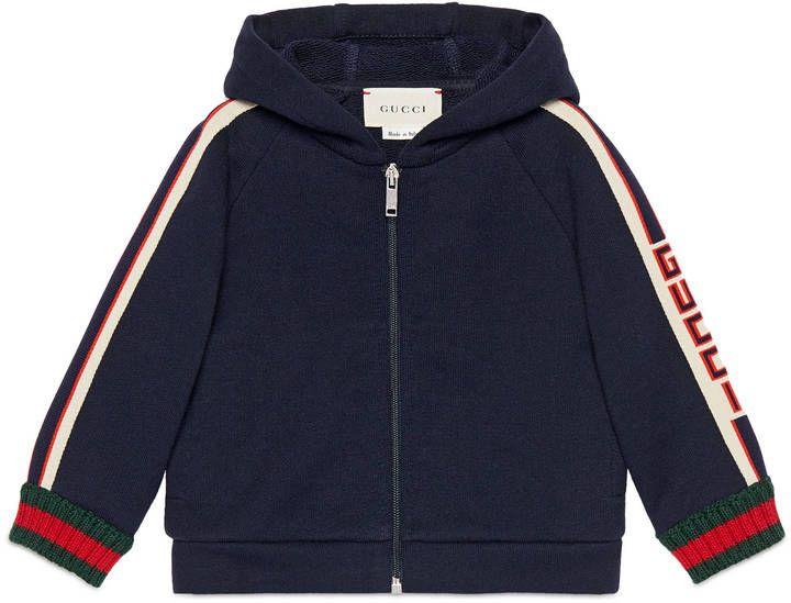 ad74937885f Baby sweatshirt with Gucci jacquard trim