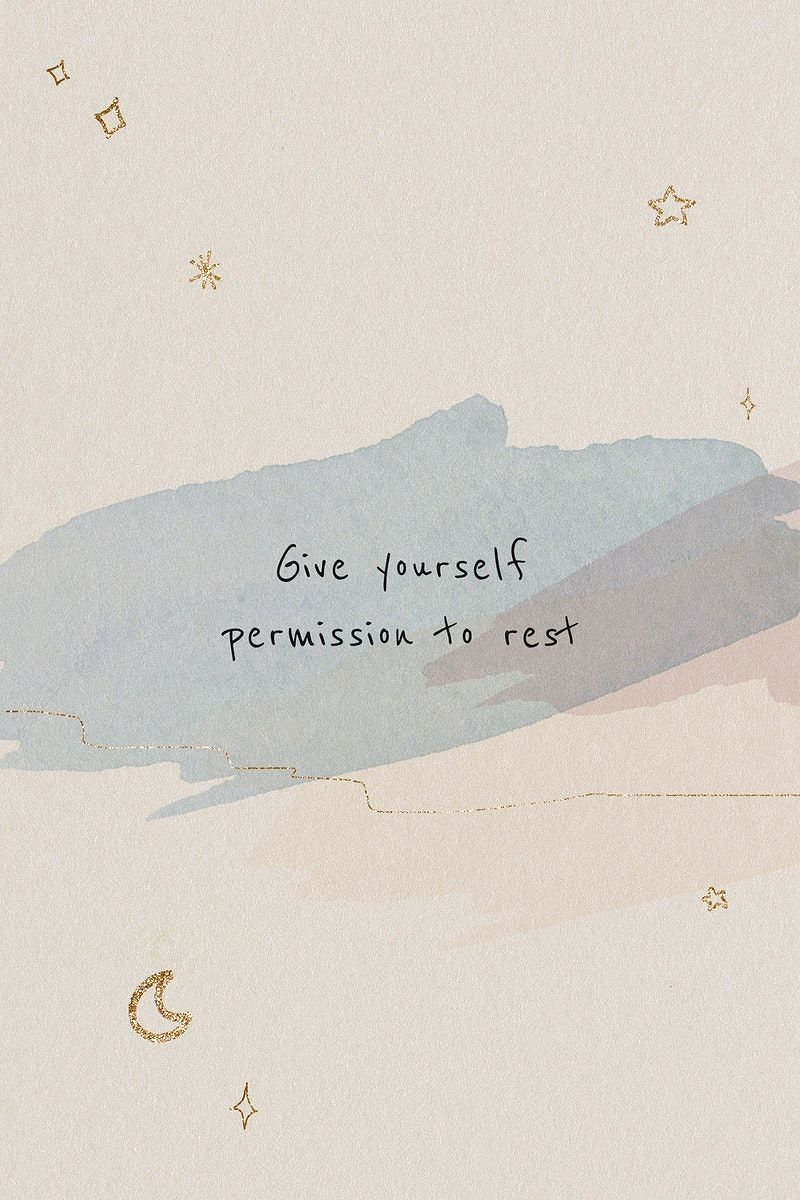 Download free illustration of Give yourself permission to rest