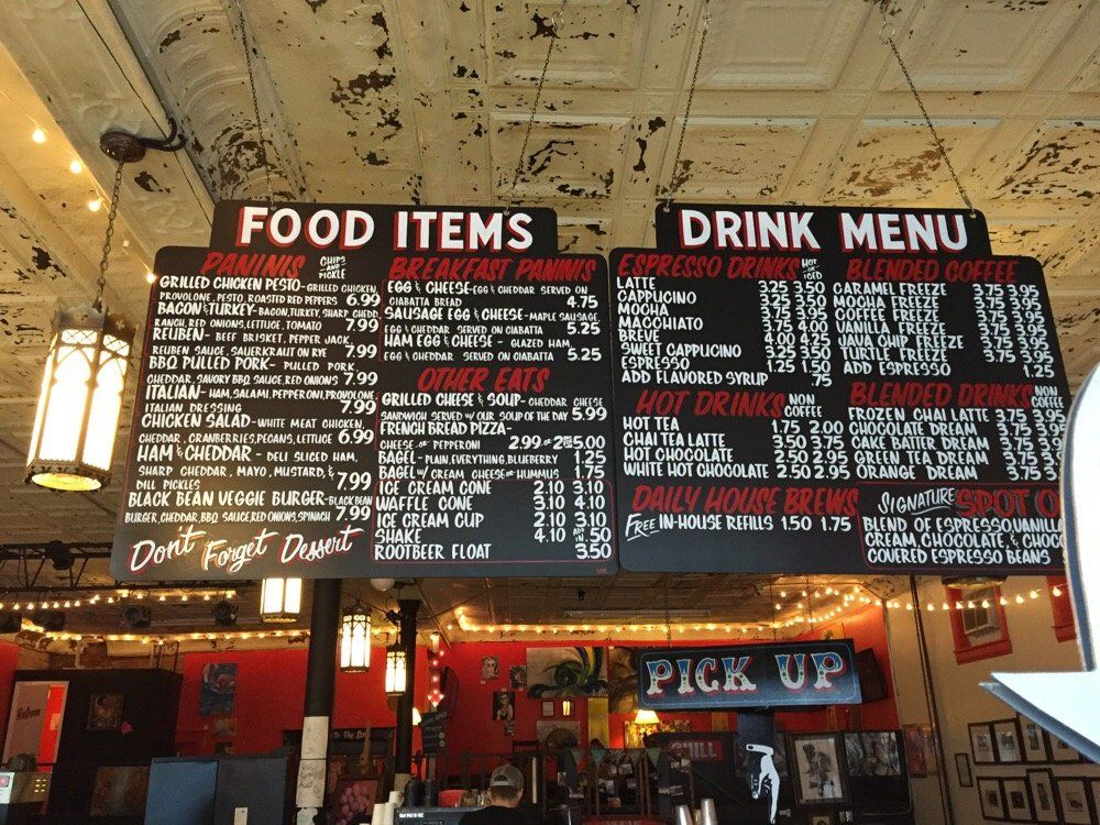 The spot coffee shop fort payne al united states menu