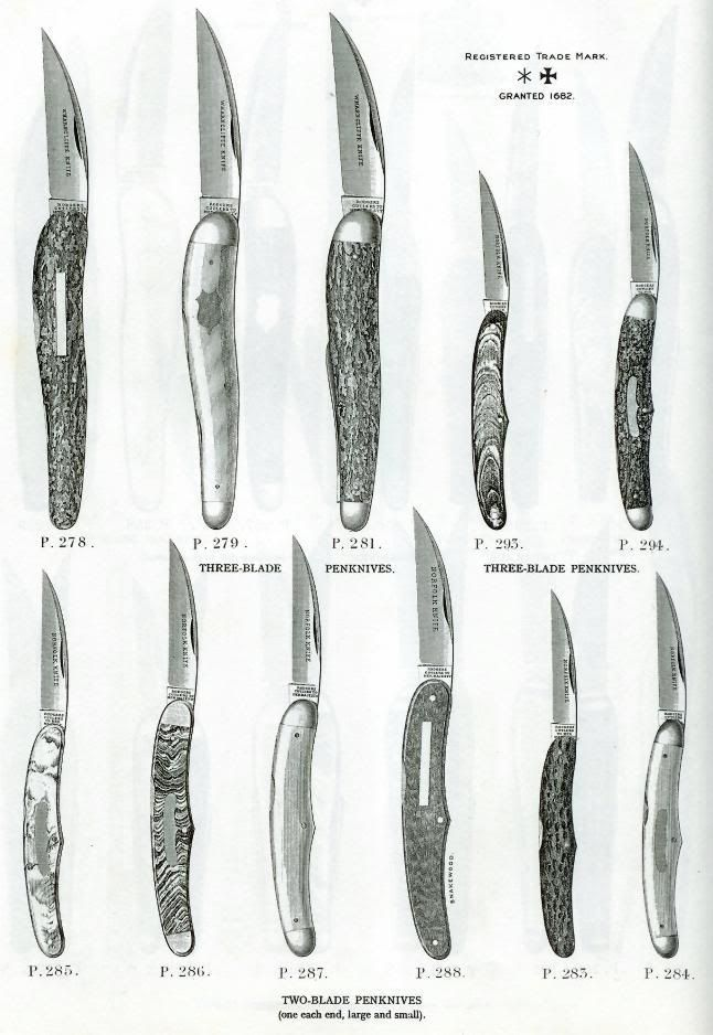"The Norfolk pattern was Joseph Rodgers signature pattern back in the mid to late 1800's. They would stamp ""NORFOLK KNIFE"" into the wharncliffe master blades -- named no doubt for their primary factory and showroom at No 6 Norfolk Street, Sheffield (stamped into most of their knives). Their enormous and never since equaled 1851 Crystal Palace Exhibition Knife was called the Norfolk Knife."