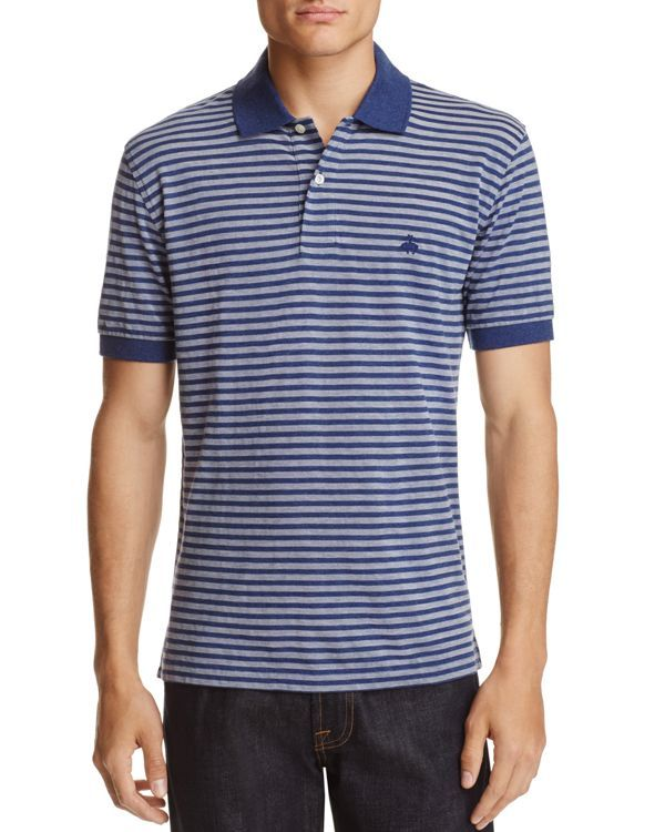Brooks Brothers Oxford Stripe Classic Fit Polo Shirt