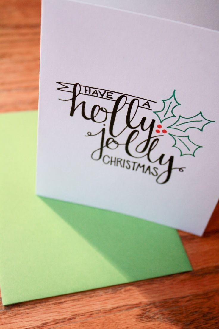 Have a holly jolly Christmas | Addressing Christmas cards ...