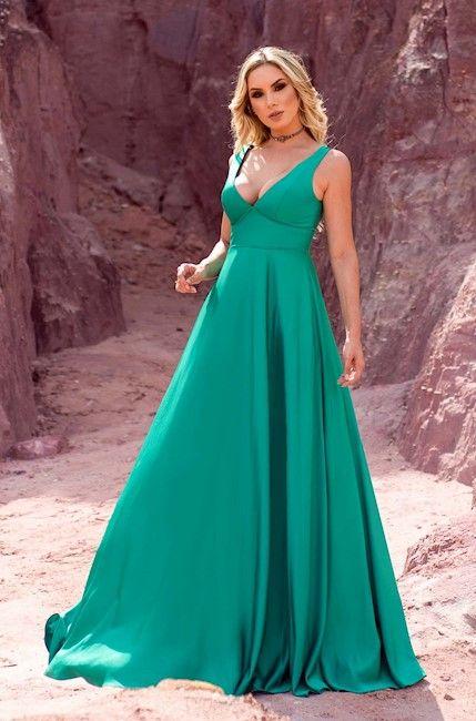 f133349ff2872 Vestido Acetinado Girassol   costura - roupas em 2019   Vestido de ...