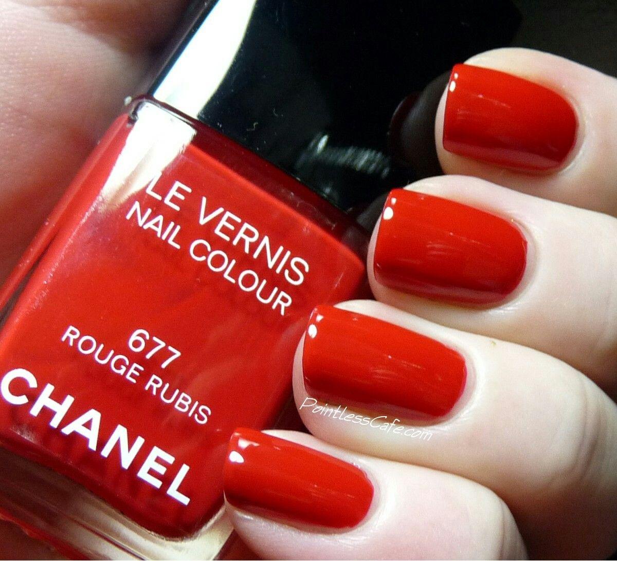 Encantador Shanghai Chanel De Color Rojo Esmalte De Uñas ...