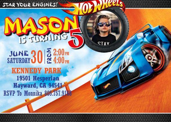Hot Wheels Cumpleaños Invitación Hot Wheels Por